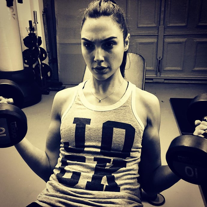 **Gal Gadot**<br><br> To get her *Wonder Woman* body perfect, Gal Gadot spent six hours in the gym every day. Damn.