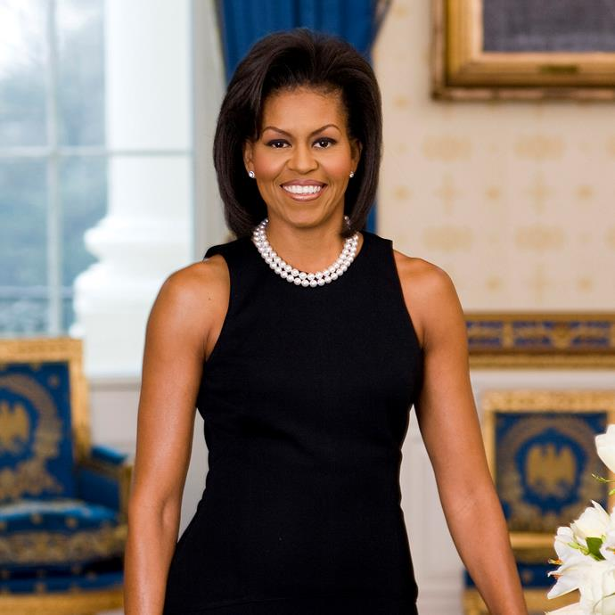 **Michelle Obama**<br><br> Michelle Obama's strong arms are so incredible that they caused an international scandal when she posed for her official portrait in a sleeveless dress.