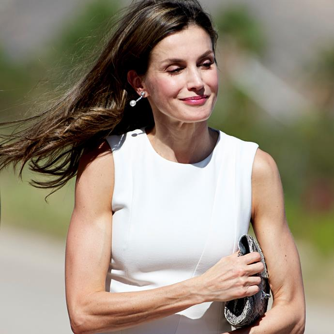 **Queen Letizia of Spain**<br><br> Even Queens find time to hit the gym. Letizia, Queen Consort of Spain, has some enviously ripped arms.