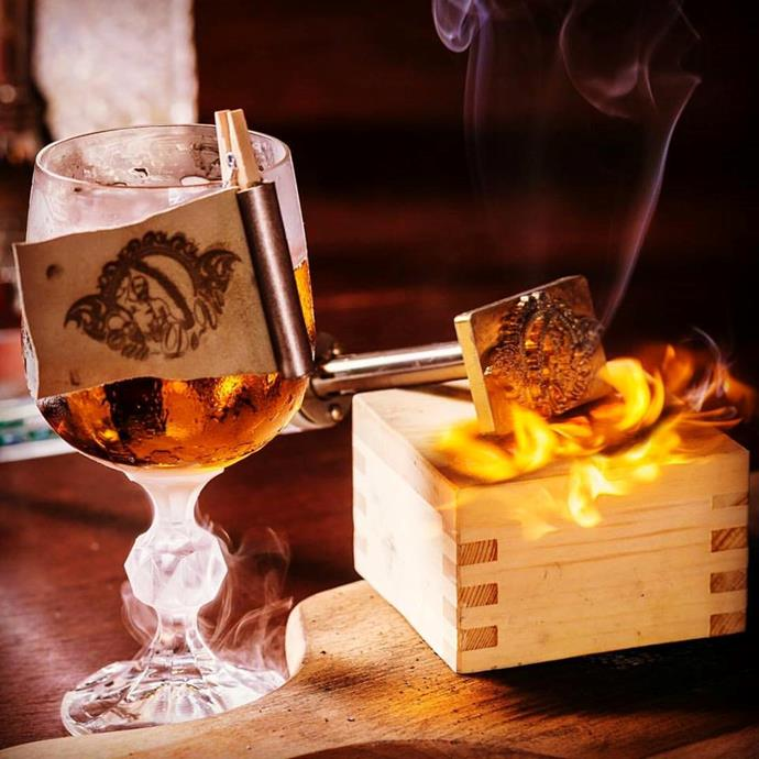 **Eau de Vie** <br> <br> This Darlinghurst joint offers up their own Blazer with Ron Zacapa rum flamed with Pedro Ximenez sherry and bitters.