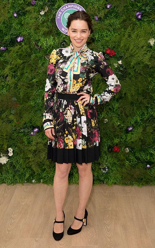 Wearing Dolce & Gabbana at the Wimbledon Championship on July 16, 2017.