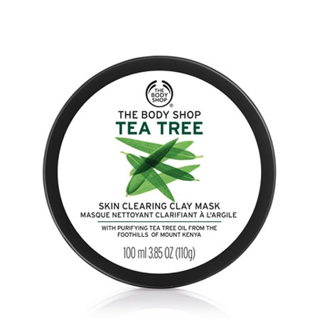 """**The Body Shop Tea Tree Skin Clearing Clay Mask, $25 at [The Body Shop](http://www.thebodyshop.com.au/skincare/scrubs-and-masks/tea-tree-skin-clearing-clay-mask#.WW2A2YSGOUk