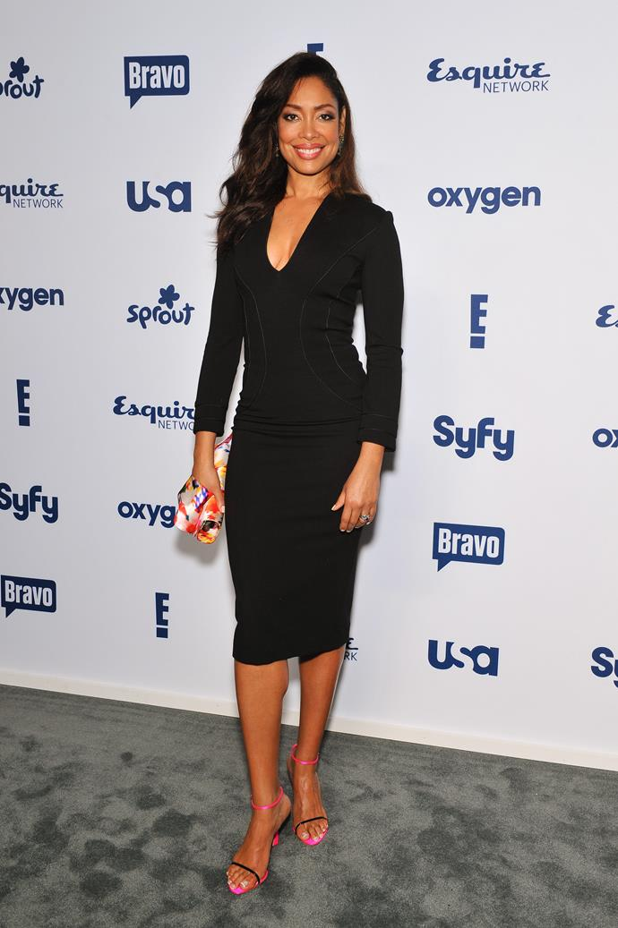 **Gina Torres**<br><br> We've seen her dominate in a skirt-suit in *Suits*, why not in a tux in *Bond*?