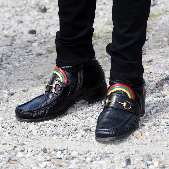 These [Gucci 'Rainbow Horsebit Leather Loafers'](https://www.gucci.com/int/en/pr/men/mens-shoes/mens-moccasins-loafers/rainbow-horsebit-leather-loafer-p-449944D3VP01062).