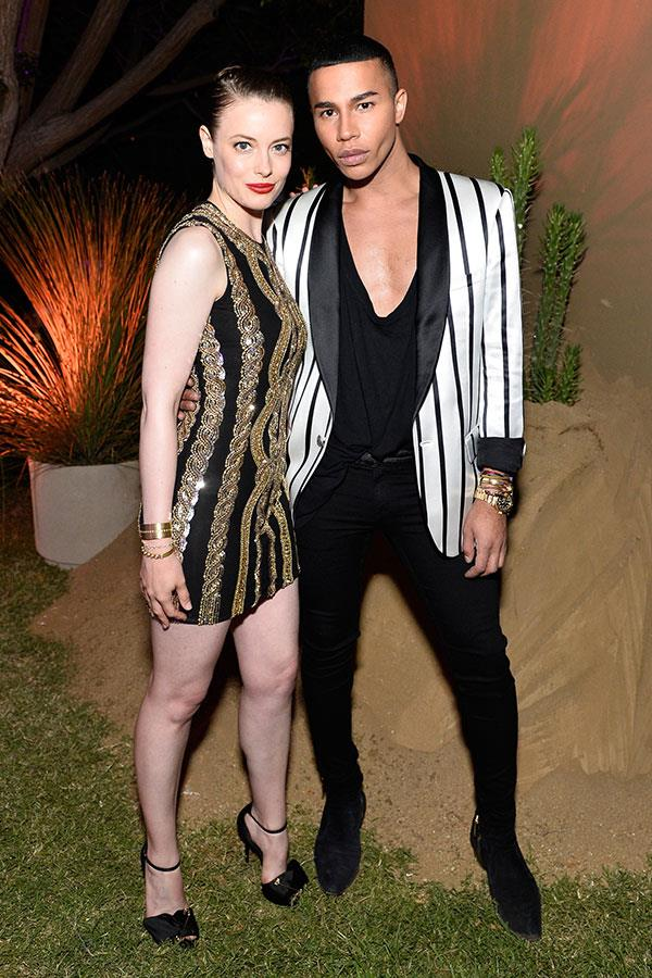 Gillian Jacobs and Olivier Rousteing
