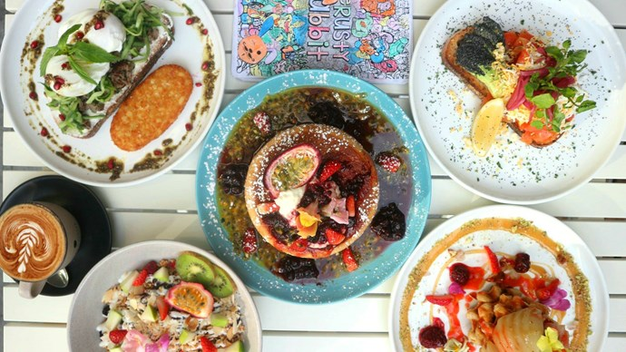 **For a coffee catch up… The Rusty Rabbit** <br> <br> This cute Surry Hills café is a rustic retreat with tongue-in-cheek servers and funky coffee cups to make your gal catch-up bright and colourful!