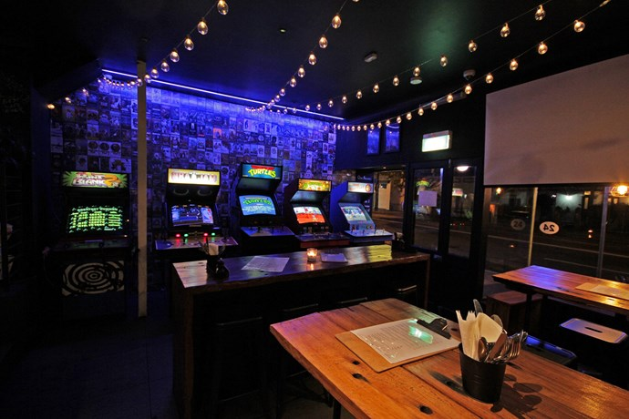 **For a retro games night… 1989** <br> <br> Sydney's first arcade bar and café, located on King Street in Newtown, is the go-to spot if you want to hang with your competitive pals and smash out a game (or five) of Space Invaders.