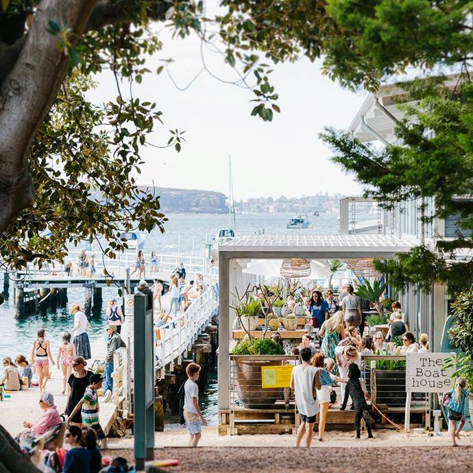 **For an early morning breakfast with a view… The Boathouse** <br> <br> There is nothing prettier than Balmoral Beach first thing in the morning. So start your day right by gathering together your girls and heading to the Boathouse to share a fruit platter and a selection of scrummy cakes.