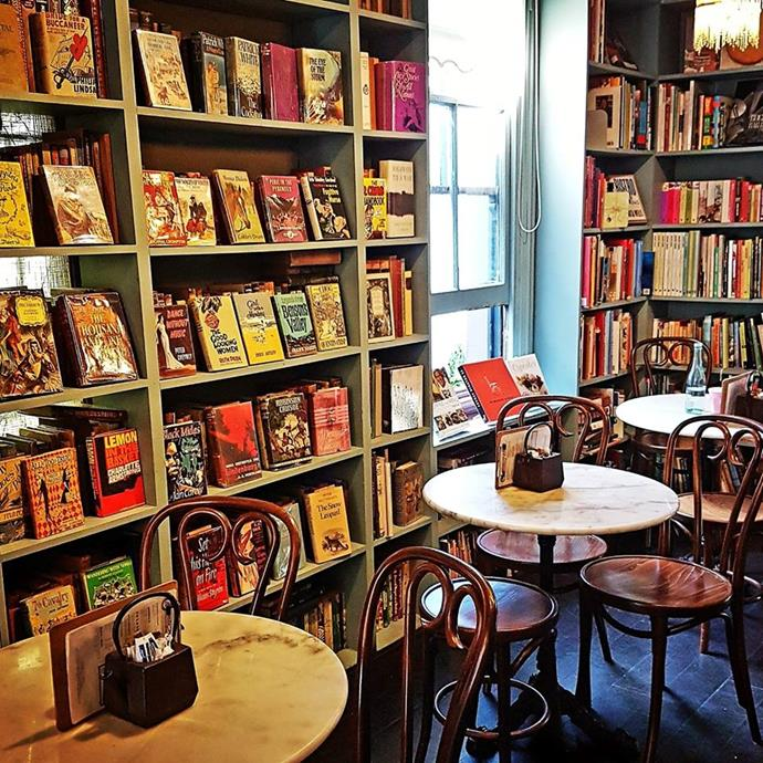 **For a book club brunch… Ampersand Café & Bookstore** <br> <br> This Paddington joint is a delightful little book shop cum café—meaning there is no judgement if you just order a coffee each and then kick back (and take your time) with a good book.
