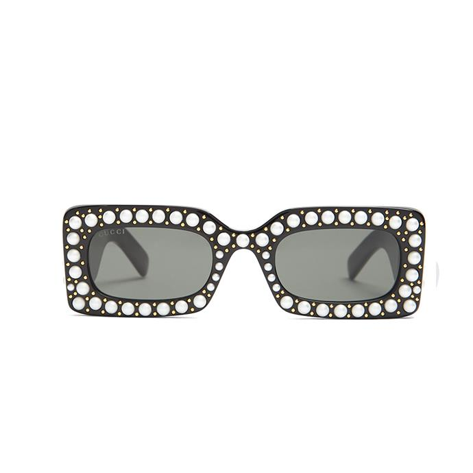 Sunglasses, $936, [Gucci at Matches Fashion](http://www.matchesfashion.com/au/products/Gucci-Faux-pearl-embellished-acetate-sunglasses-1179562)