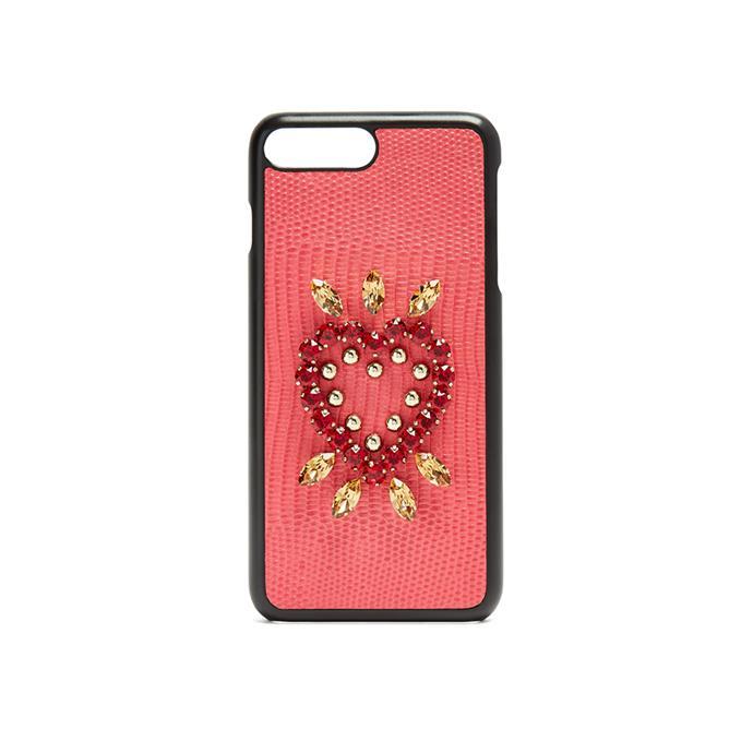 Phone Case, $481, [Dolce & Gabbana at Matches Fashion](http://www.matchesfashion.com/au/products/Dolce-26-Gabbana-Iguana-crystal-embellished-iPhone-7-Plus-case-1162047)