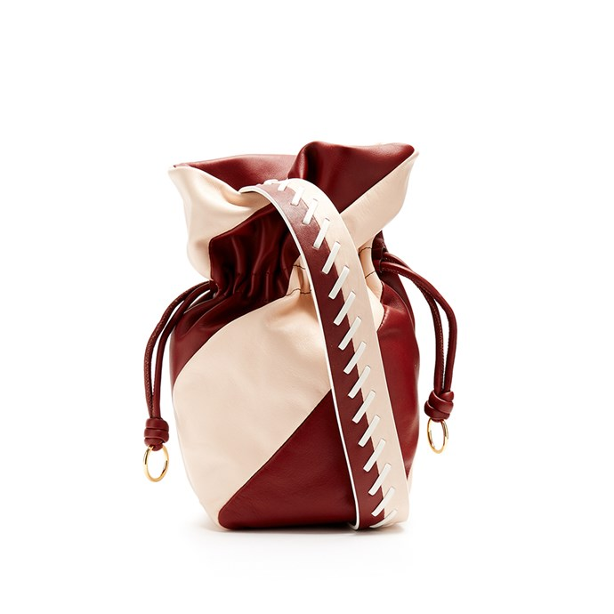 Bag, $360, [Diane Von Furstenberg at Matches Fashion](http://www.matchesfashion.com/au/products/Diane-Von-Furstenberg-Evening-leather-bucket-bag-1155113)