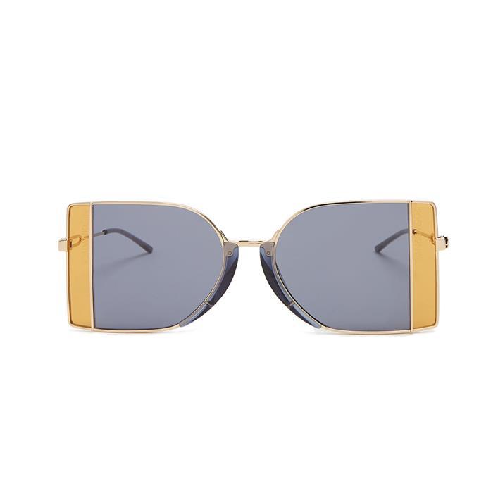 Sunglasses, $509, [Calvin Klein at Matches Fashion](http://www.matchesfashion.com/au/products/Calvin-Klein-205W39NYC-Bi-colour-metal-sunglasses--1177227)