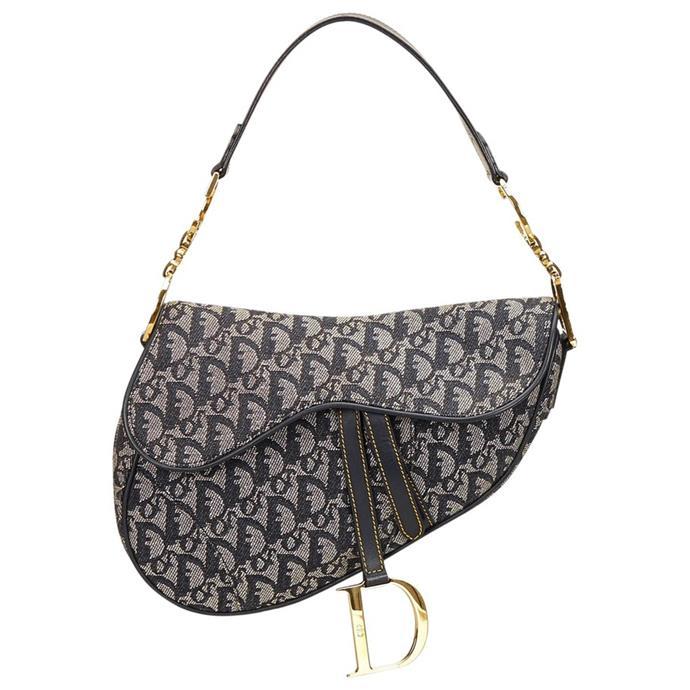 "**Buy**: Vintage Dior handbag, $390.55 at [Vestiaire Collective](http://www.vestiairecollective.com/women-bags/handbags/dior/black-cloth-diorissimo-dior-handbag-4286002.shtml|target=""_blank"")"