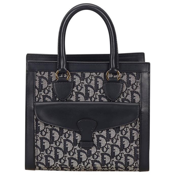 "**Buy**: Vintage Dior handbag, $501.77 at [Vestiaire Collective](http://www.vestiairecollective.com/women-bags/handbags/dior/blue-cloth-dior-handbag-4288309.shtml|target=""_blank"")"