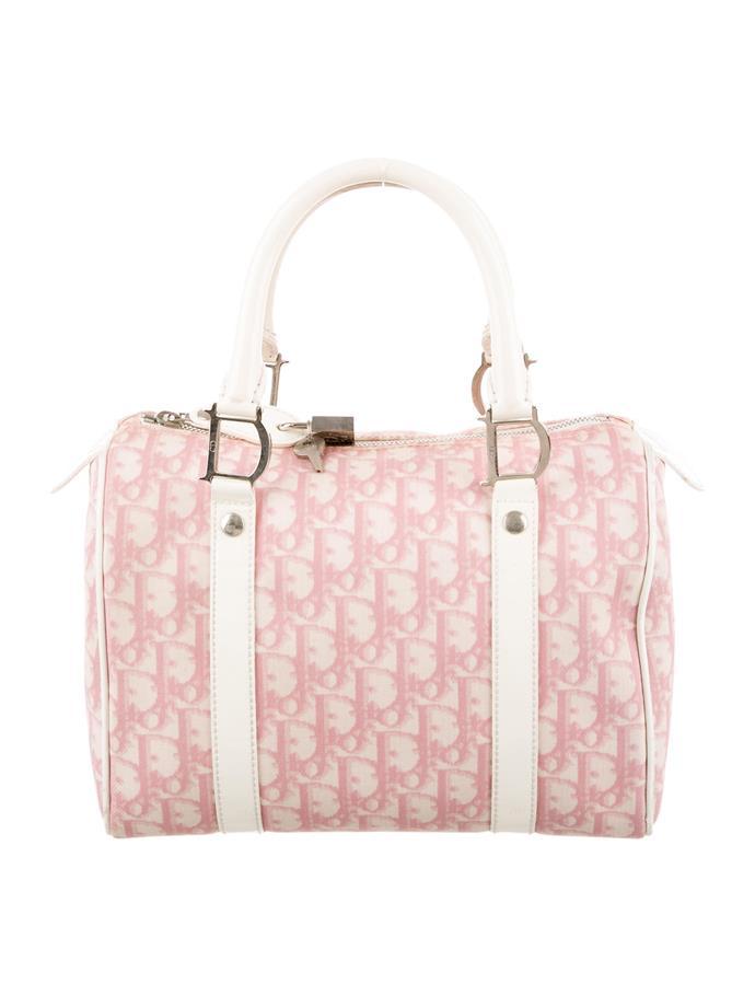 "**Buy**: Vintage Dior handbag, approx. $242 at [The Real Real](https://www.therealreal.com/products/women/handbags/handle-bags/christian-dior-diorissimo-girly-bag-10|target=""_blank"")"