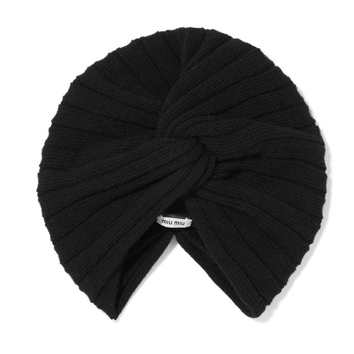 Turban, $330, [Miu Miu at Net-a-Porter](https://www.net-a-porter.com/au/en/product/918739)