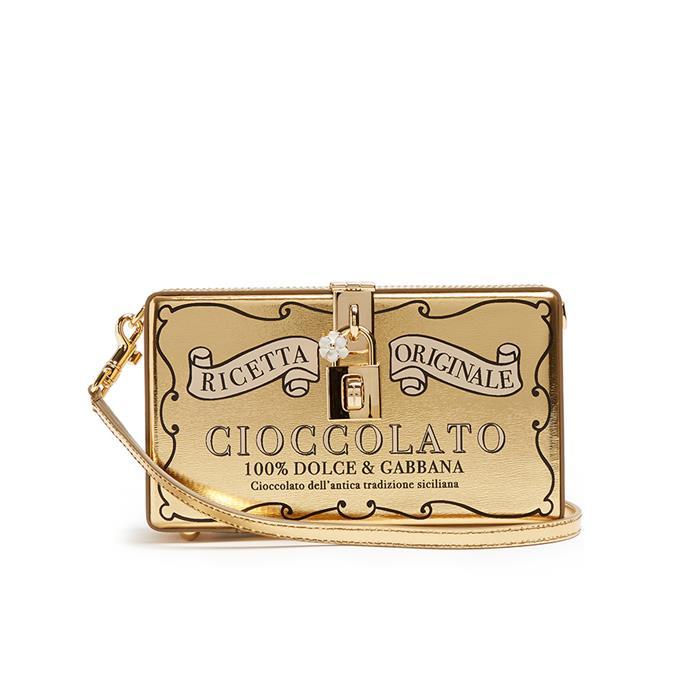 Clutch, $2,693, [Dolce & Gabbana at Matches Fashion](http://www.matchesfashion.com/au/products/Dolce-26-Gabbana-Chocolate-Bar-leather-box-clutch-1162035)