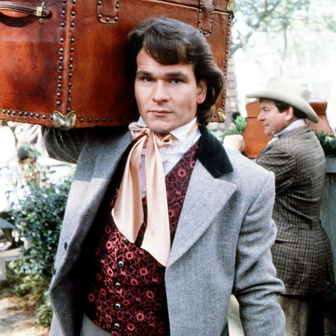 """**Patrick Swayze**<br><br> """"I absolutely believe in crystals. They are a major part of my life. I really think I'm on a journey now, spiritually and career-wise. [He holds up a thin opalescent rock.] This is my magic wand. And this one … tiny, smooth, black, this has positive properties … I have tons of these things. Museum quality. I don't know if this stuff works. But I tell ya, I believe that things you believe in can come true."""""""