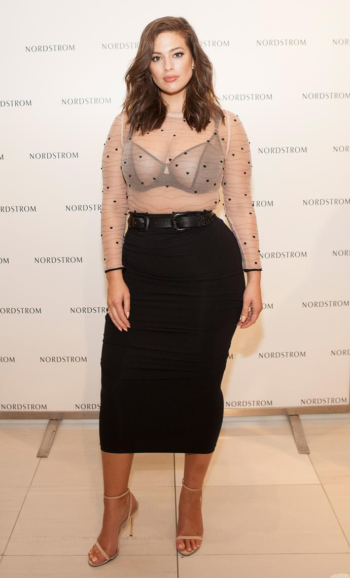 At an Elle lingerie event for Nordstrom, September 2016.