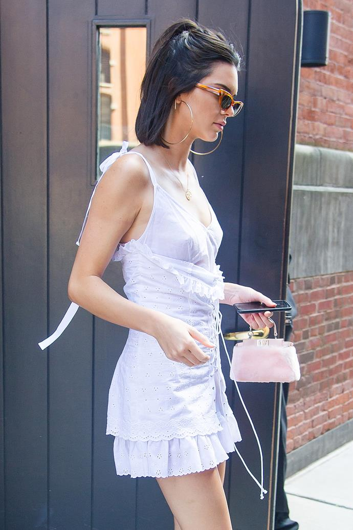 Kendall Jenner with a Fendi bag