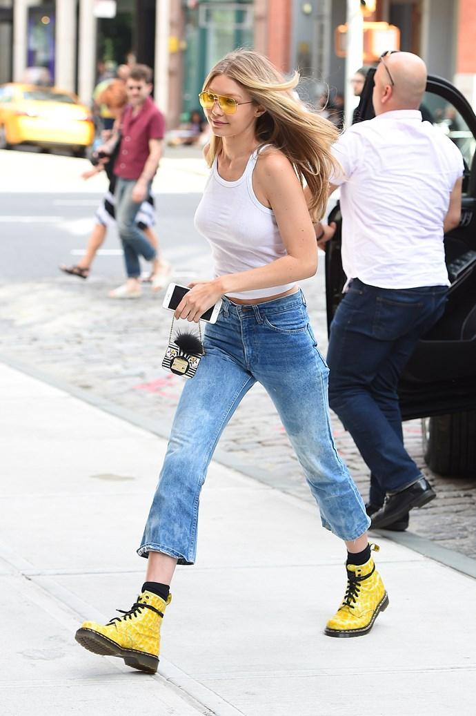 Gigi Hadid with a Fendi bag