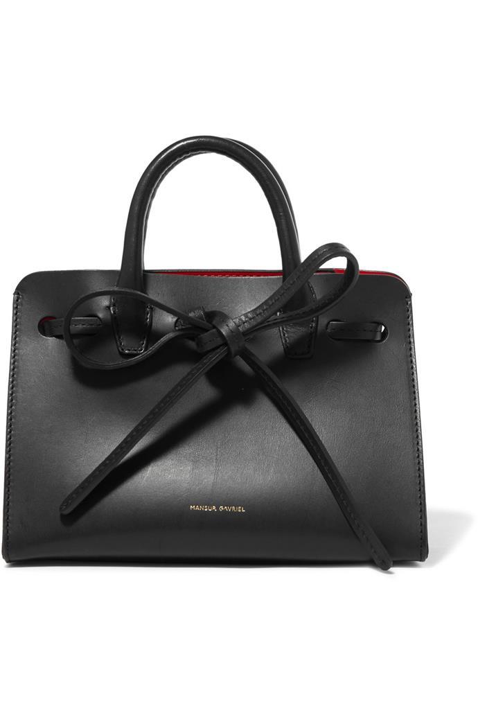 "**Buy:** Mansur Gavriel bag, $590 at [Net-a-Porter](https://www.net-a-porter.com/au/en/product/852554/mansur_gavriel/sun-mini-mini-leather-tote|target=""_blank"")"