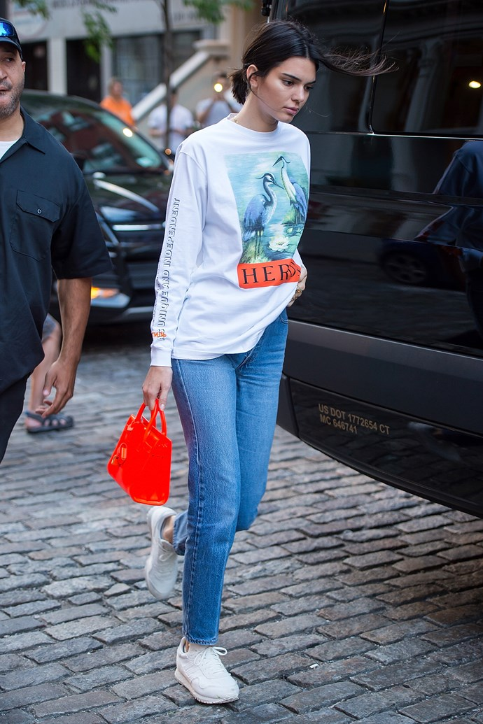 Kendall Jenner with a Saint Laurent bag