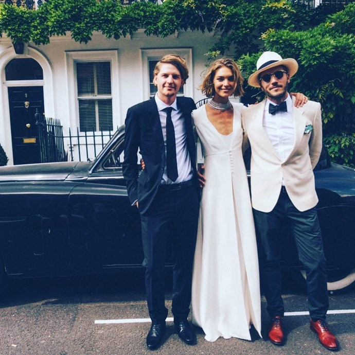 **Arizona Muse** <br><br> Married: Boniface Verney-Carron <br><br> Wearing: Temperley London