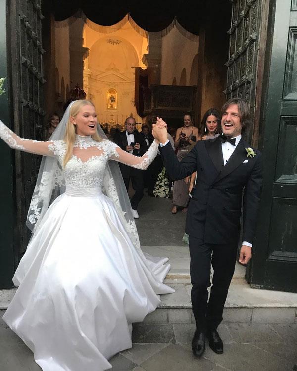 **Vita Sidorkina** <br><br> Married: Valerio Morabito <br><br> Wearing: Zuhair Murad