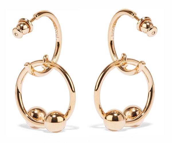 Pierce Hoop Earrings, $472, J.W. Anderson at [Net-a-Porter](https://www.net-a-porter.com/au/en/product/913415/JWAnderson/pierce-gold-plated-hoop-earrings)