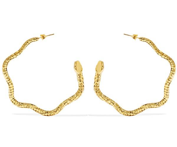 Tao Hoop Earrings, $344, Aurelie Bidermann at [Farfetch](https://www.farfetch.com/au/shopping/women/aurelie-bidermann--tao-hoop-earrings-item-10958221.aspx)