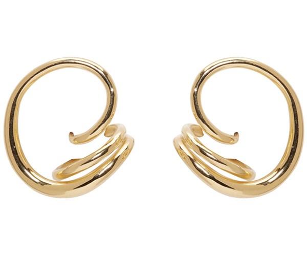 Round Trip Earrings, $709 (approx.), Charlotte Chesnais at [SSENSE](https://www.ssense.com/en-us/women/product/charlotte-chesnais/gold-round-trip-earrings/2393767)