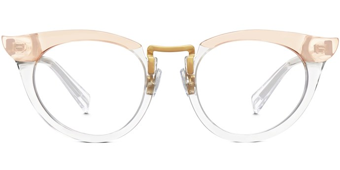 "For the more adventurous, experiment with vintage-inspired shapes courtesy of cool kid-approved brand Warby Parker.<br><br>  Glasses by Warby Parker, approx. $182 at [Warby Parker](https://www.warbyparker.com/eyeglasses/women/zelda/crystal-taupe|target=""_blank"")"