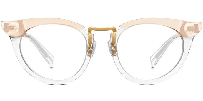 """For the more adventurous, experiment with vintage-inspired shapes courtesy of cool kid-approved brand Warby Parker.<br><br>  Glasses by Warby Parker, approx. $182 at [Warby Parker](https://www.warbyparker.com/eyeglasses/women/zelda/crystal-taupe