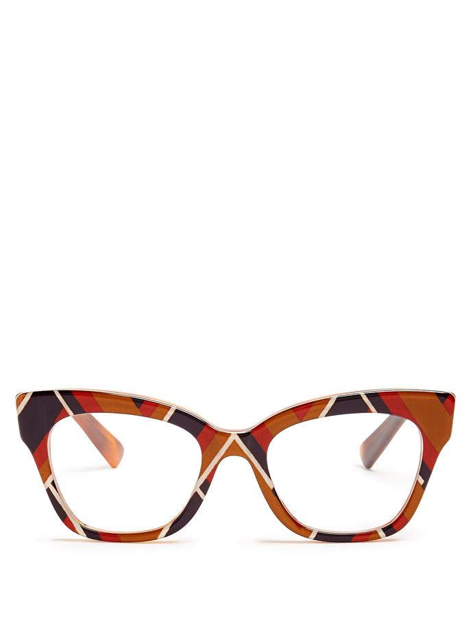"""If you can credit anyone with making glasses the accessory of the moment, it's Gucci's Alessandro Michele. No surprise, then, that the brand's offering of frames are among the coolest on the market.   Glasses by Gucci, $514 at [Matches Fashion](http://www.matchesfashion.com/au/products/Gucci-Square-frame-acetate-glasses--1097198