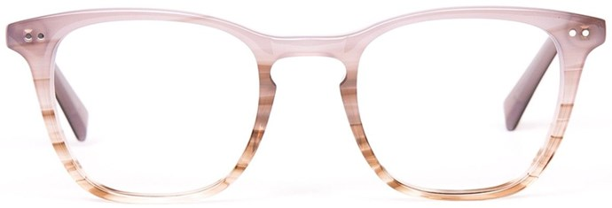 "Thanks to Gucci and Balenciaga, we're seeing a welcome move away from minimalism, which means the time is nigh to embrace coloured or two-tone frames.<br><br>  Glasses by Oscar Wylee, $149 at [Oscar Wylee](http://www.oscarwylee.com.au/anya-optical.html|target=""_blank"")"