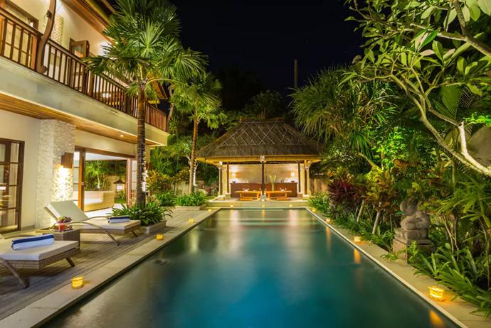 **[La Bali Villa, South Denpasar](https://www.airbnb.com.au/rooms/8509037?guests=4&adults=2&children=2&location=Denpasar%20Selatan%2C%20Indonesia&s=Wo9d5a1R), Bali**