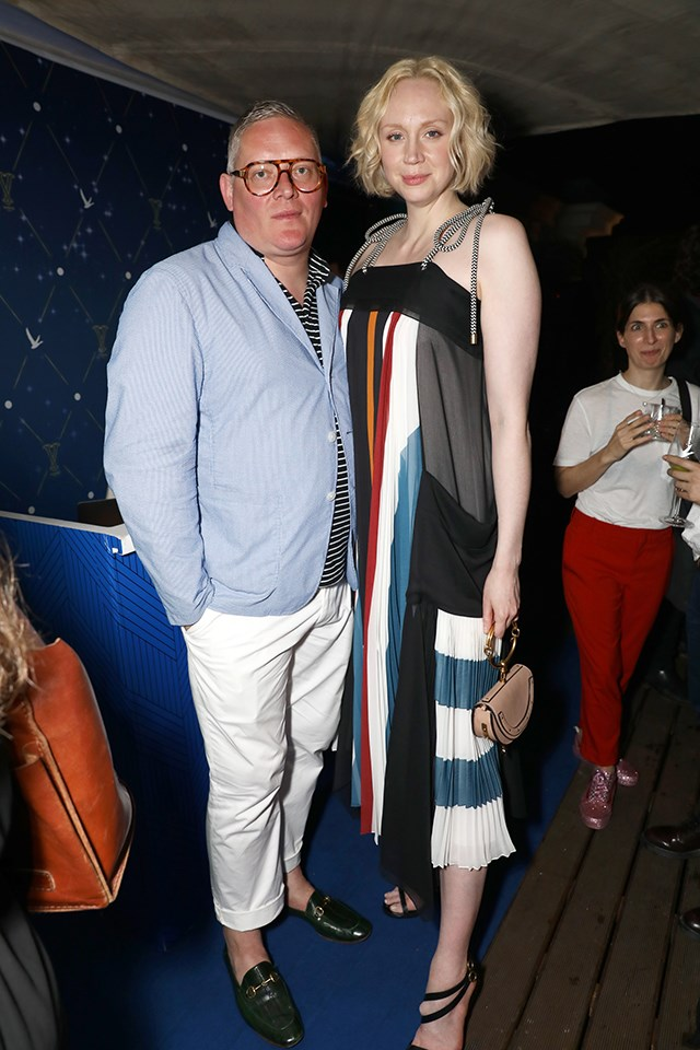 "Gwendoline Christie (Brienne of Tarth) has been dating British designer Giles Deacon, the man behind Pippa Middleton's wedding dress, since 2013. In a 2016 interview with [*The Telegraph*](http://www.telegraph.co.uk/fashion/people/game-of-thrones-actress-gwendoline-christie-talks-working-with-p/), Gwendoline said, ""Giles has long been one of my favourite designers."" In return, Giles, who has designed some of his girlfriend's red carpet dresses, said, ""It's a pleasure to work with your partner. She's a fantastic muse. She's a character herself, and her trail of various characters is brilliant—she's pretty transformative, which is always an interesting thing from a designer's point of view."""