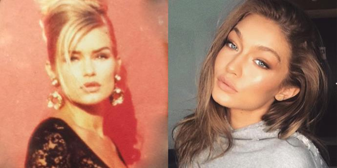 <strong>Yolanda Foster and Gigi Hadid</strong> <br><br> At 22 years old.