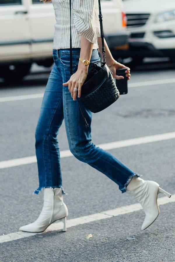 **Scorpio: Balenciaga's White Ankle Booties** <br><br> You're edgy, adventurous and always one step ahead of the fashion curve, Scorpio. What's more, you know what you like, and these edgy Balenciaga booties ooze independence.