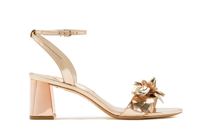 Sandal, $650, Sophia Webster at [Désordre](https://desordrestore.com/collections/shoes/products/lilicorosemid) <br><br> No one does whimsy quite like Sophia Webster, and add rose gold to the mix and you've got the ultimate unapologetically-feminine wedding shoe.