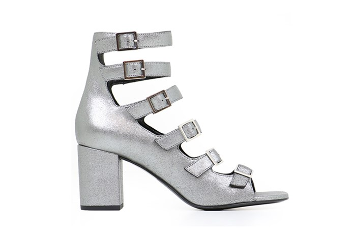 Heel, $685, Saint Laurent at [Parlour X](https://www.parlourx.com/styles/shoes/babies-70mm-multi-buckle-heel-crack-suede-silver.html) <br><br> If you're ditching wedding dress traditions in favour of something [short and chic](http://www.elle.com.au/wedding/short-wedding-bridal-dress-inspiration-13600), consider these Saint Laurent buckle heels for some added allure.