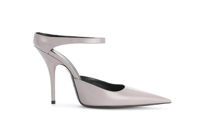 Pump, $850, Balenciaga at [MyTheresa](https://www.mytheresa.com/en-au/balenciaga-leather-pumps-839848.html?catref=category) <br><br> These 'backless' Balenciaga pumps can be worn long after your nuptials are over, so if you're a stickler for [cost per wear](http://www.elle.com.au/beauty/why-a-natural-bristle-hairbrush-is-a-worthwhile-investment-13590), these make a worthwhile investment.