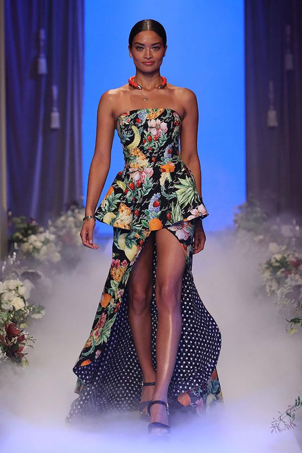 **Shanina Shaik: Diet ** <br><br> **Breakfast: ** In the morning it's an omelette, with three eggs, and avocado. <br><br> **Lunch: ** Lunch is normally protein and vegetables of some kind. I'm a pescatarian–not fully vegan yet–so fish is my go-to. <br><br> **Dinner: ** Same thing, some protein and greens does the trick. And no alcohol, no tea, no coffee, just water (hot water and lemon is my favourite).  <br><br> **Snacks: ** I eat quite clean overall but I've started snacking on nuts and avocado recently because good fats helps your body burn bad fats.  <br><br> **Treats: ** I have a huge sweet tooth, so ice cream and chocolate are my favourites. It's really hard for me to avoid. Last night was my publicist's birthday, and they brought out dessert, and I was so proud of myself for not touching any of it!  <br><br> **Supplements: ** Vitamins are really important to my diet. I have a nutritionist that supplies me with B12, which helps keep my energy levels up.