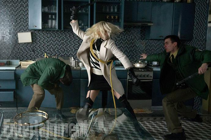 ** David Leitch** for training Charlize Theron in *Atomic Blonde*.