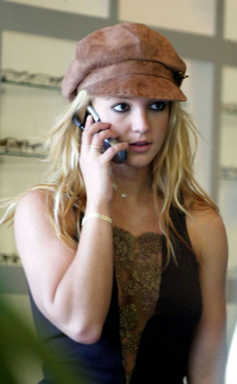 **BRITNEY SPEARS**  This is literally 2003 calling, asking for its hat back.