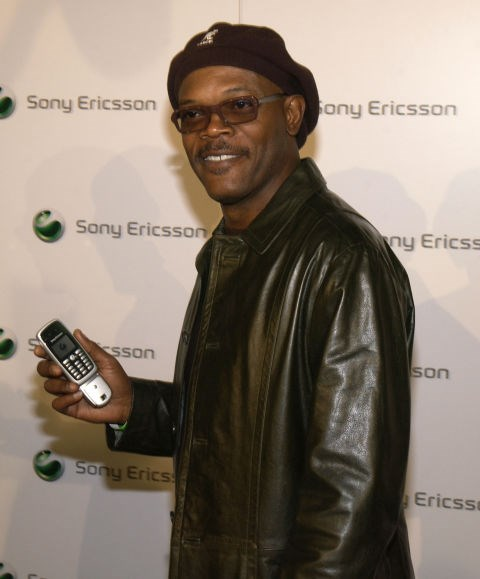 **SAMUEL L. JACKSON**  Remember when cell phones had Hollywood premiere parties?