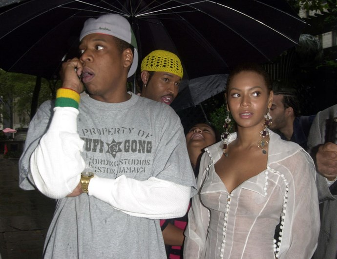 """**JAY-Z AND BEYONCÉ**  """"Jay, seriously, can you not use that phone when we're in public?"""""""