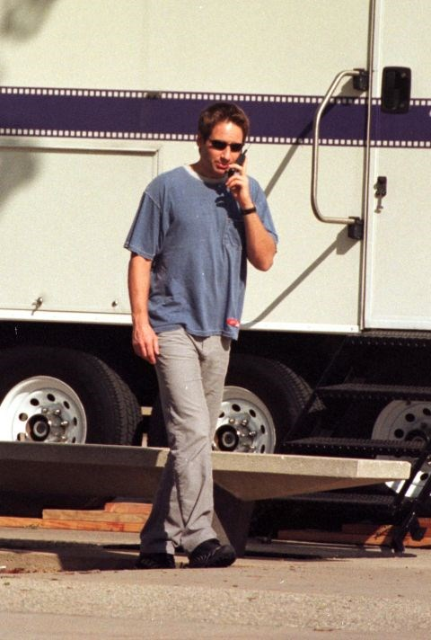 """**DAVID DUCHOVNY**  """"No, I won't do my Mulder voice for you, Mum..."""""""